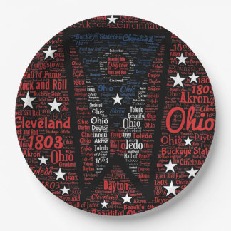 """State of Ohio Buckeyes Paper Plates 9"""""""