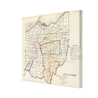 State of Ohio Canvas Print
