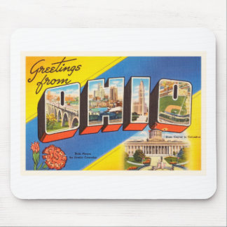 State of Ohio OH Old Vintage Travel Souvenir Mouse Pad