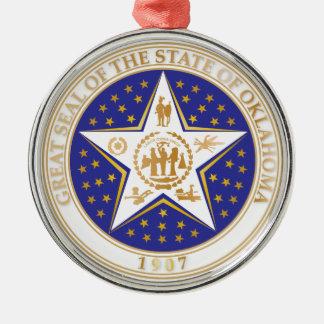State of Oklahoma seal Christmas Ornament