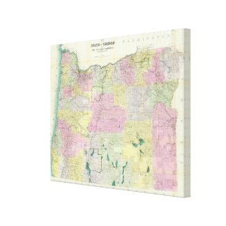 State of Oregon Canvas Print