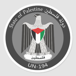 State of Palestine Classic Round Sticker