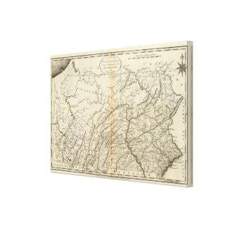 State of Pennsylvania 2 Canvas Print