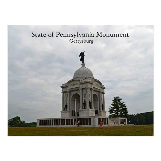 State of Pennsylvania Monument Postcard