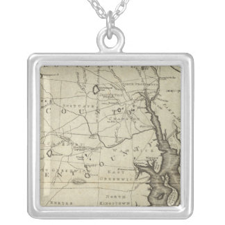 State of Rhode Island 2 Silver Plated Necklace