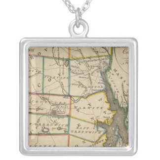 State of Rhode Island 3 Silver Plated Necklace