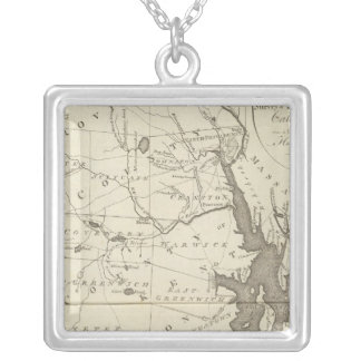 State of Rhode Island Silver Plated Necklace