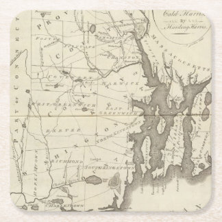 State of Rhode Island Square Paper Coaster