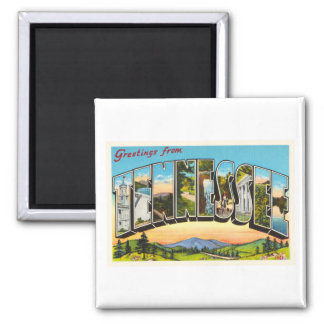 State of Tennessee TN Old Vintage Travel Souvenir Square Magnet
