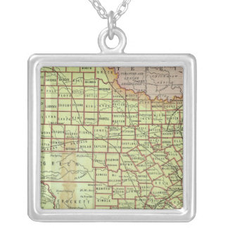 State of Texas 3 Silver Plated Necklace