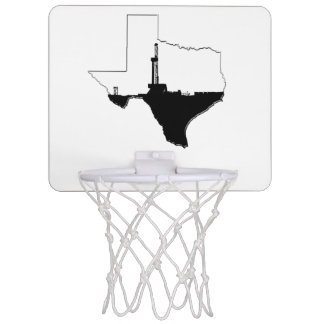 State of Texas and Oil Drilling Rig Mini Basketball Hoop