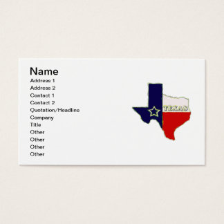 STATE OF TEXAS BUSINESS CARD