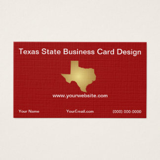 State of Texas Business Card Template