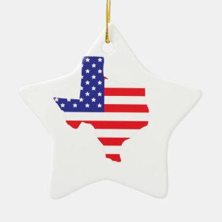 State of Texas Ceramic Star Decoration