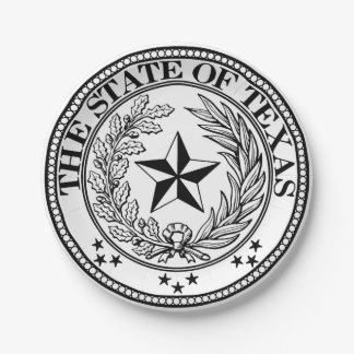 """State of Texas Custom Paper Plates 7"""""""
