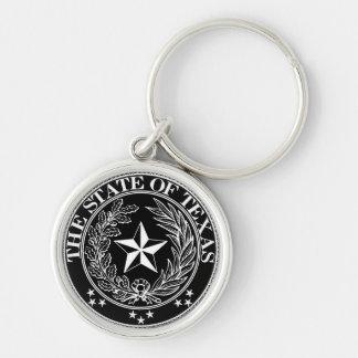 State of Texas Keychain Black Premium