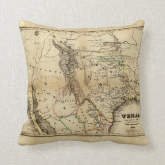 State of Texas Map (1846) Cushion