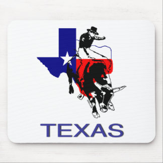 State of Texas Rodeo Bull Rider Mouse Mat