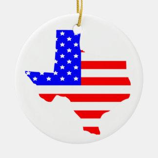 State of Texas Round Ceramic Decoration