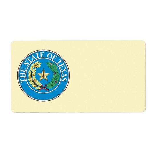 State of Texas seal Shipping Label