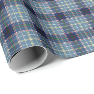 State of Texas Tartan Wrapping Paper