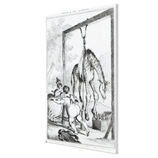 State of the Giraffe, 1829 Canvas Print