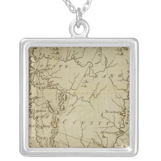 State of Vermont Drawn and Engraved Silver Plated Necklace
