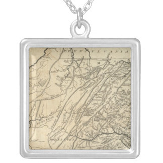 State of Virginia 2 Silver Plated Necklace
