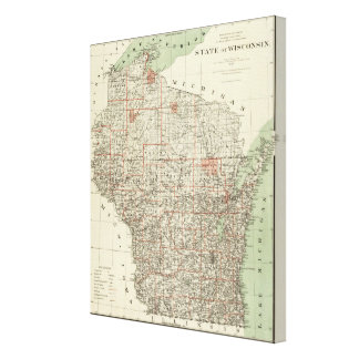 State of Wisconsin Canvas Print