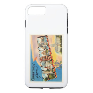 State of Wisconsin WI Old Vintage Travel Souvenir iPhone 7 Plus Case