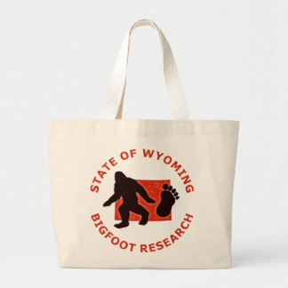 State of Wyoming Bigfoot Research Jumbo Tote Bag