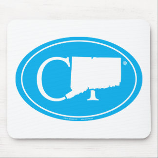 State Pride Euro: CT Connecticut Mouse Mat