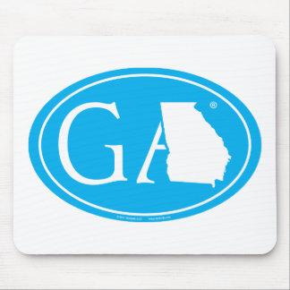 State Pride Euro: GA Georgia Mouse Mat