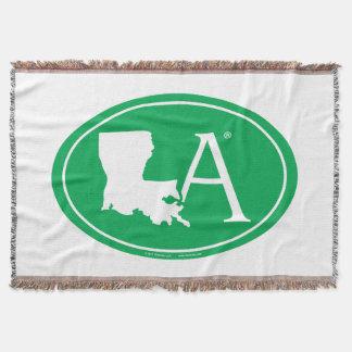 State Pride Euro: LA Louisiana Throw Blanket