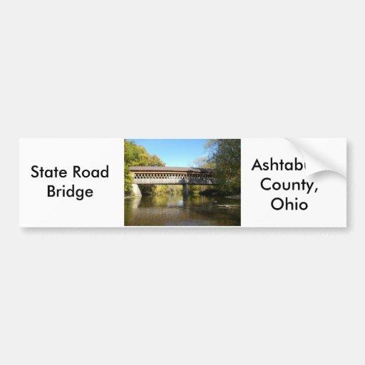 State Rd Bridge Ashtabula County Ohio Bumper Sticker