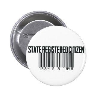 State Registered 6 Cm Round Badge