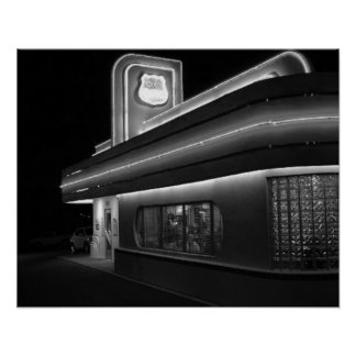 State Road 66 Diner Retro Poster