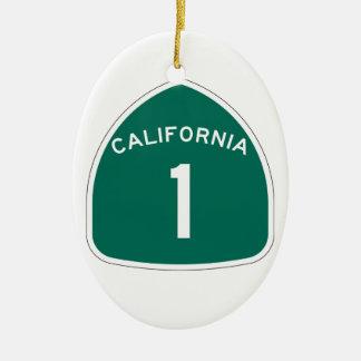 State Route 1, California, USA Ceramic Oval Decoration