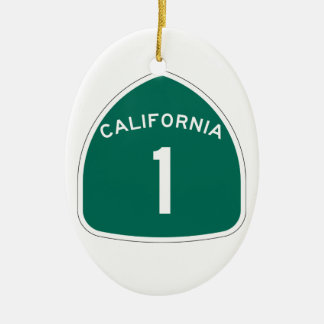 State Route 1, California, USA Christmas Ornament