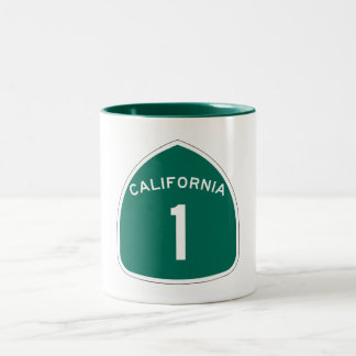 State Route 1, California, USA Two-Tone Coffee Mug