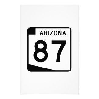 State Route 87, Arizona, USA Customized Stationery