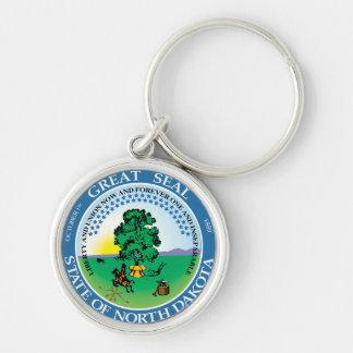 State Seal of North Dakota Keychain