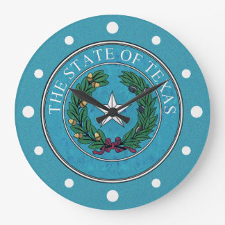 STATE SEAL OF TEXAS LARGE CLOCK