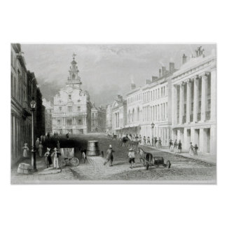 State Street, Boston,engraved by S.Lacey Poster