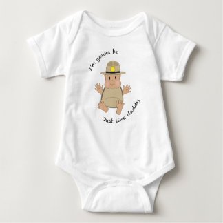 State trooper daddy baby bodysuit