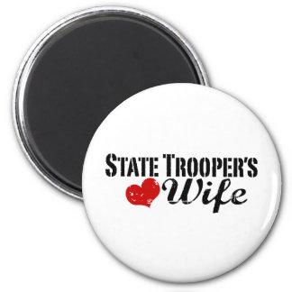 State Trooper's Wife 6 Cm Round Magnet