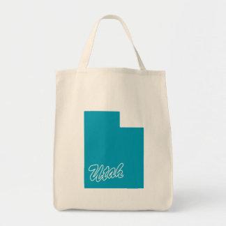 State Utah Grocery Tote Bag