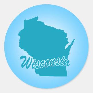 State Wisconsin Classic Round Sticker