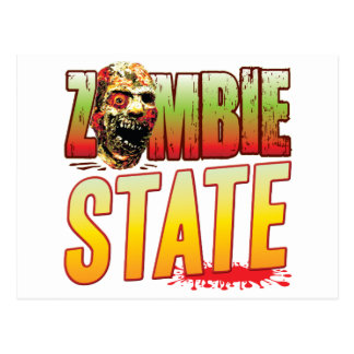 State Zombie Head Post Cards