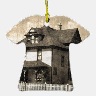 Stately Antique House Ceramic T-Shirt Decoration